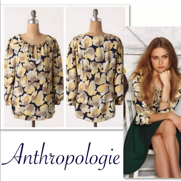Anthropologie Tops - ANTHROPOLOGIE MEADOW RUE MICHELIA FLORAL TOP